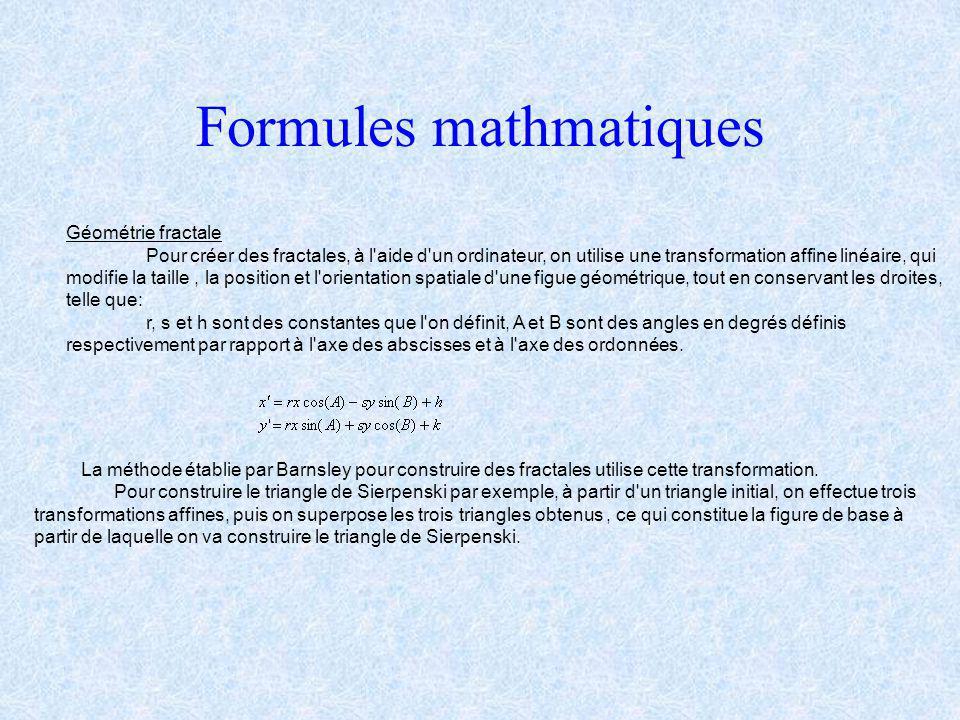 Introduction aux fractales: C'est grâce au français Benoit Mandelbrot que sont nées les fractales en 1962. Diplomé de l'école polytechnique, il débute