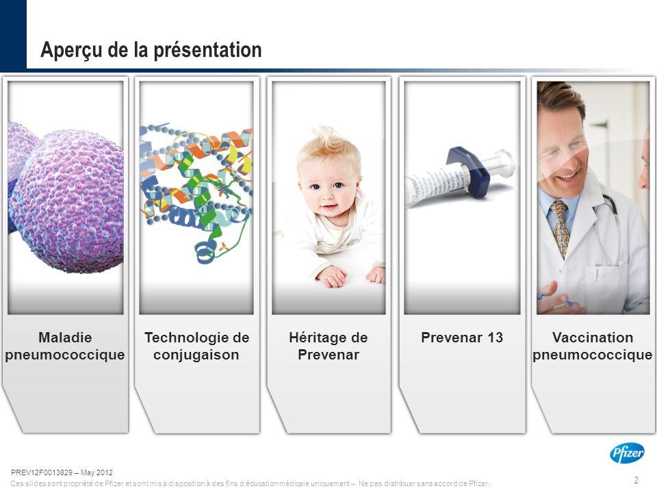 2 PREV12F0013829-May 2012 Ces slides sont propriété de Pfizer et sont mis à disposition à des fins d'éducation médicale uniquement – Ne pas distribuer
