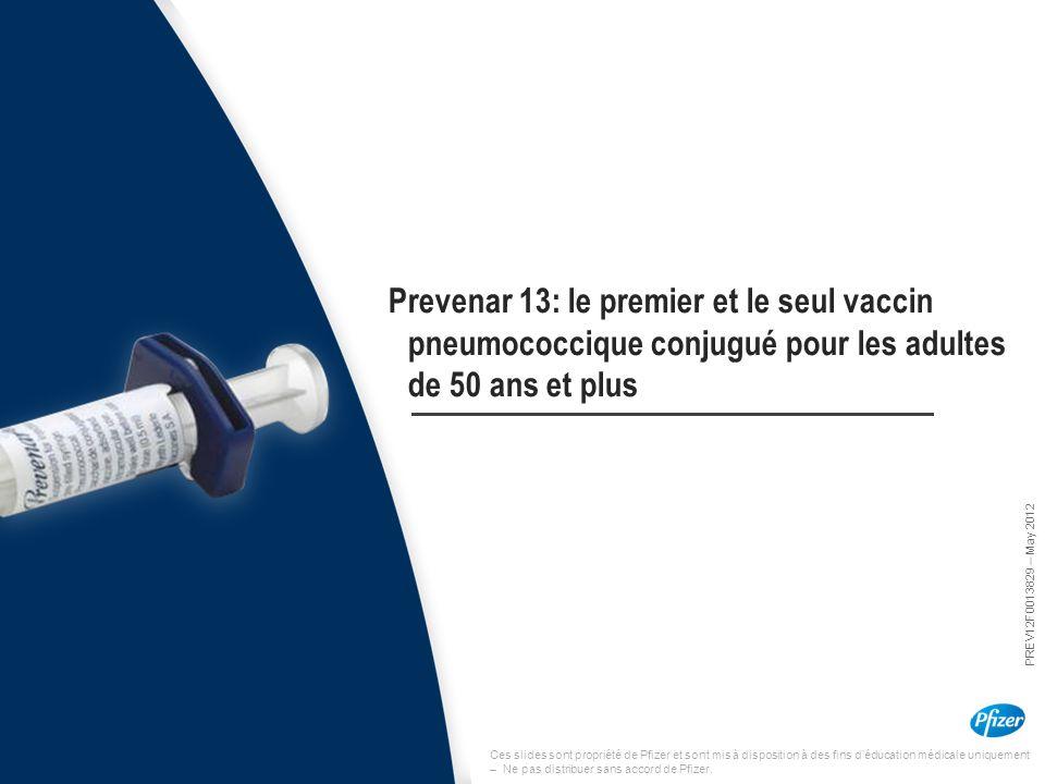 Ces slides sont propriété de Pfizer et sont mis à disposition à des fins d'éducation médicale uniquement – Ne pas distribuer sans accord de Pfizer. Pr