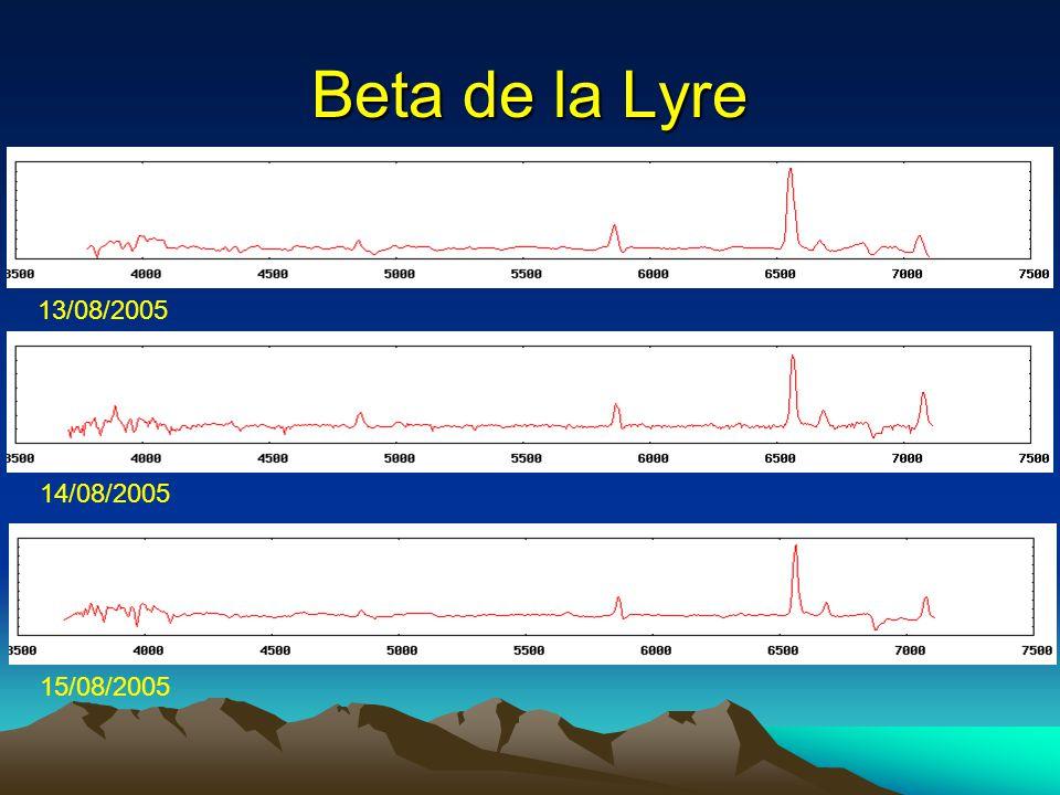 Beta de la Lyre 13/08/2005 14/08/2005 15/08/2005