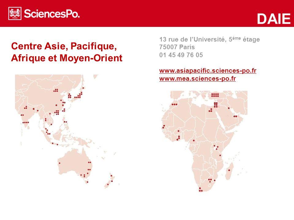 Centre Asie, Pacifique, Afrique et Moyen-Orient DAIE 13 rue de l'Université, 5 ème étage 75007 Paris 01 45 49 76 05 www.asiapacific.sciences-po.fr www