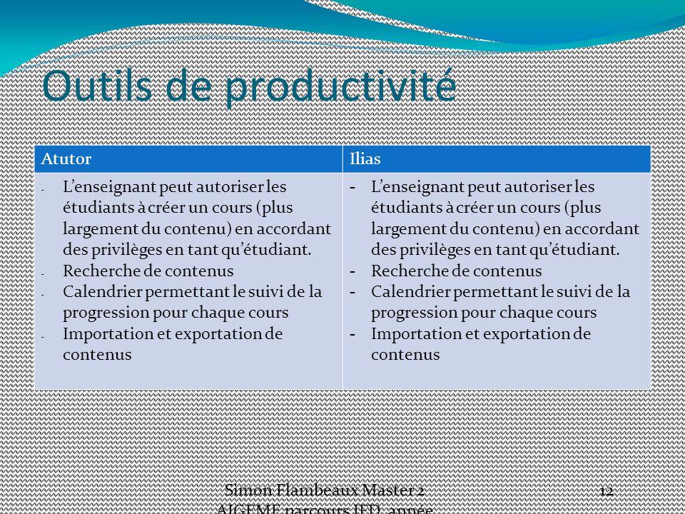 Outils de productivité AtutorIlias - L'enseignant peut autoriser les étudiants à créer un cours (plus largement du contenu) en accordant des privilèges en tant qu'étudiant.