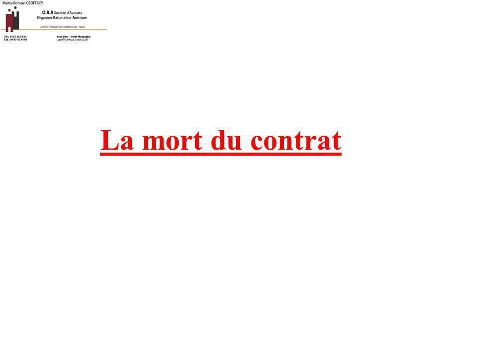 La mort du contrat