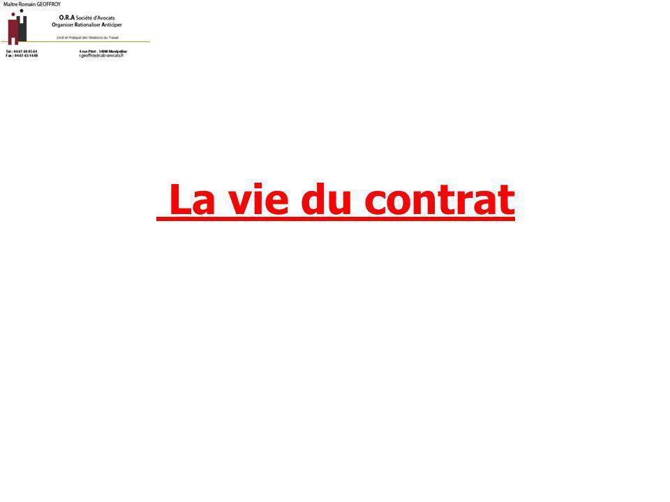 La vie du contrat