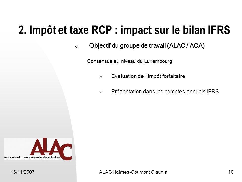 13/11/2007ALAC Halmes-Coumont Claudia10 2.