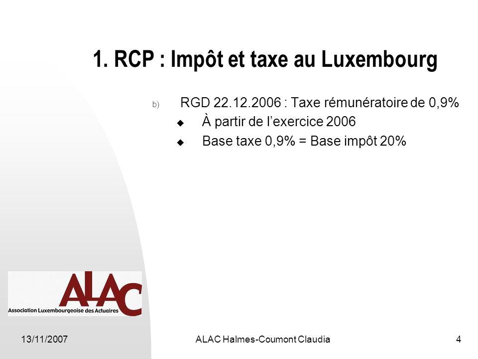 13/11/2007ALAC Halmes-Coumont Claudia4 1.