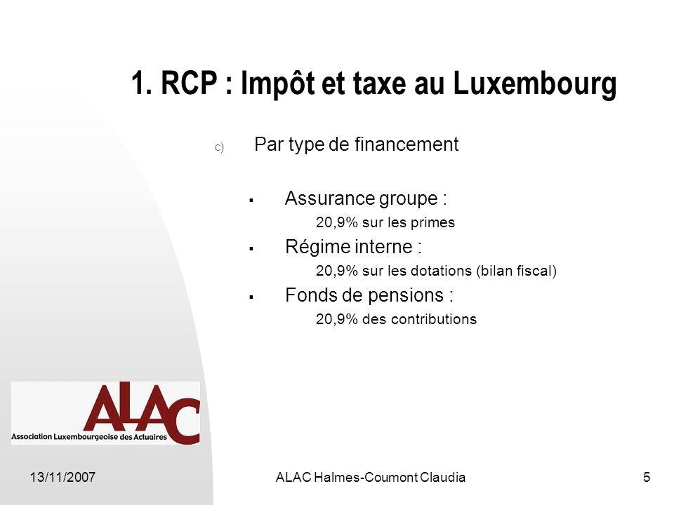 13/11/2007ALAC Halmes-Coumont Claudia5 1.