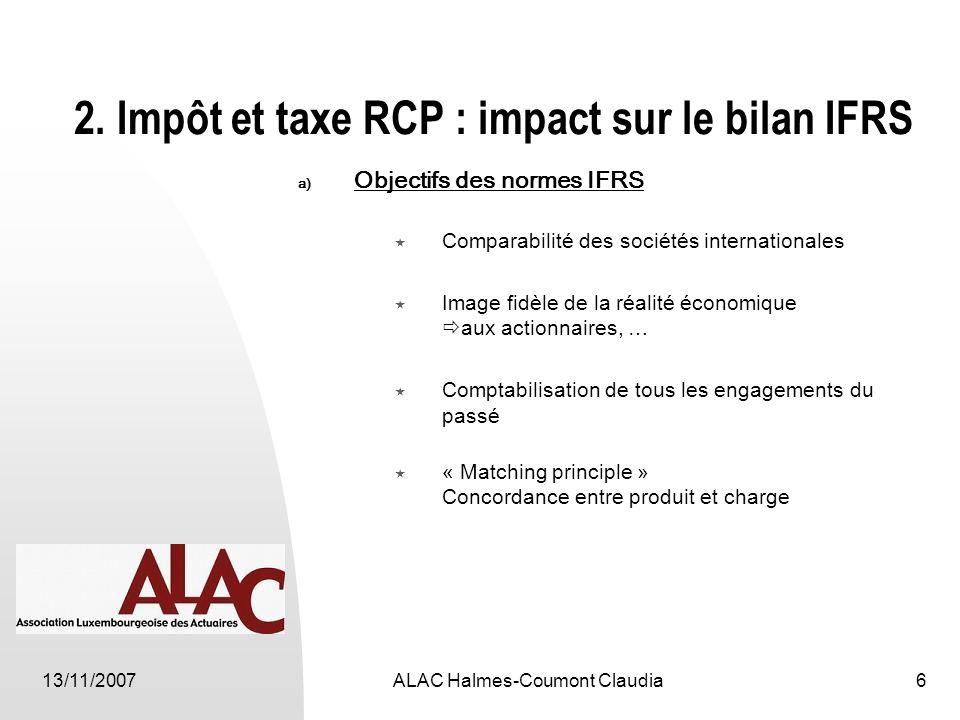 13/11/2007ALAC Halmes-Coumont Claudia6 2.
