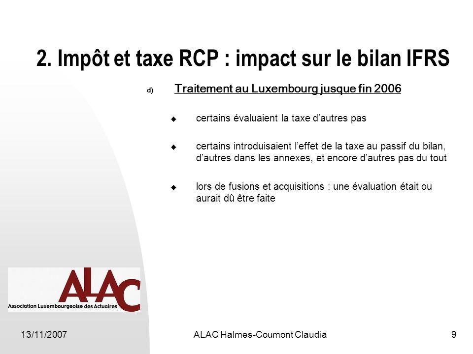 13/11/2007ALAC Halmes-Coumont Claudia9 2.