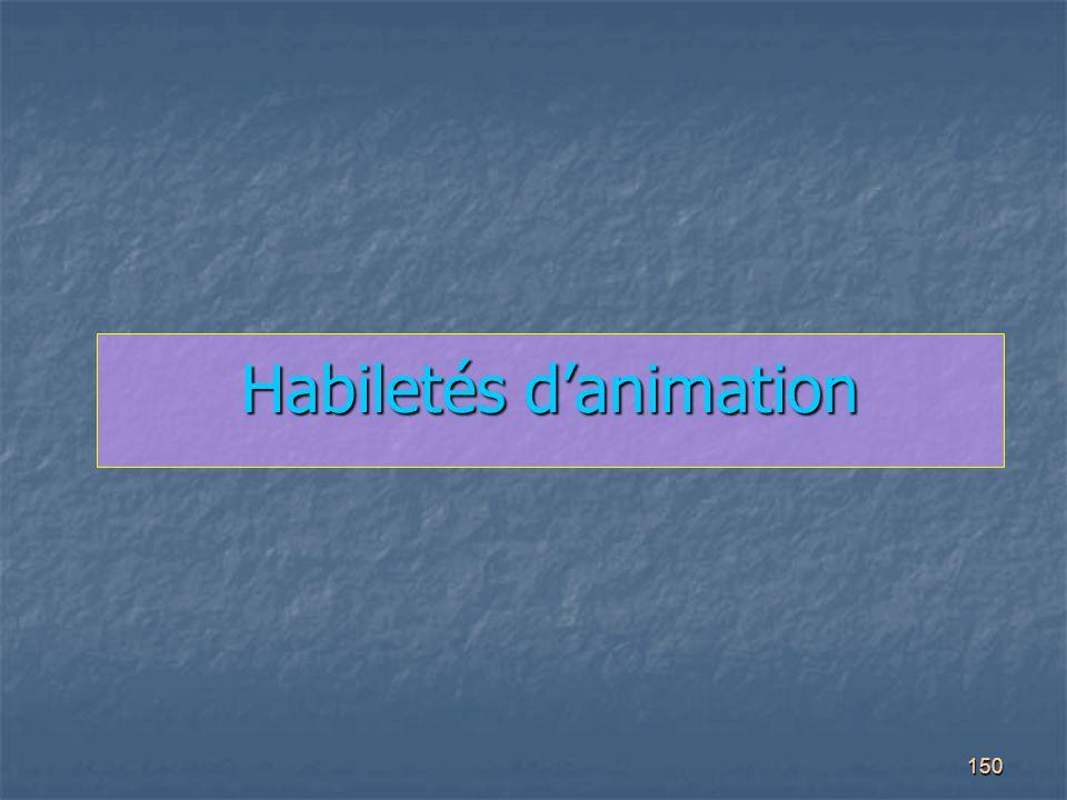 150 Habiletés d'animation