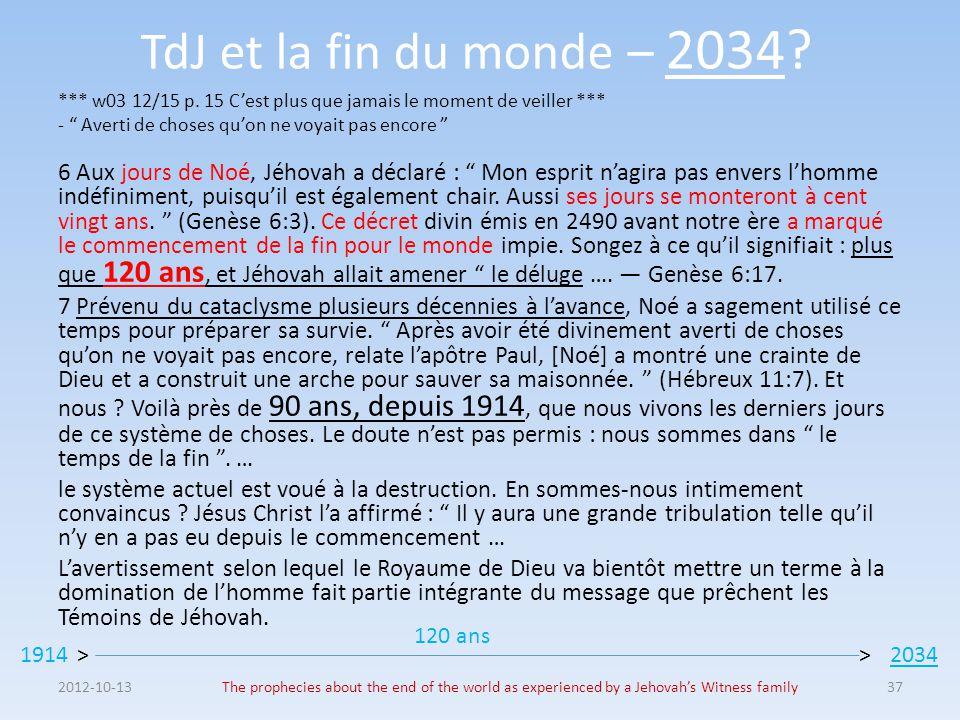 TdJ et la fin du monde – 2034.*** w03 12/15 p.