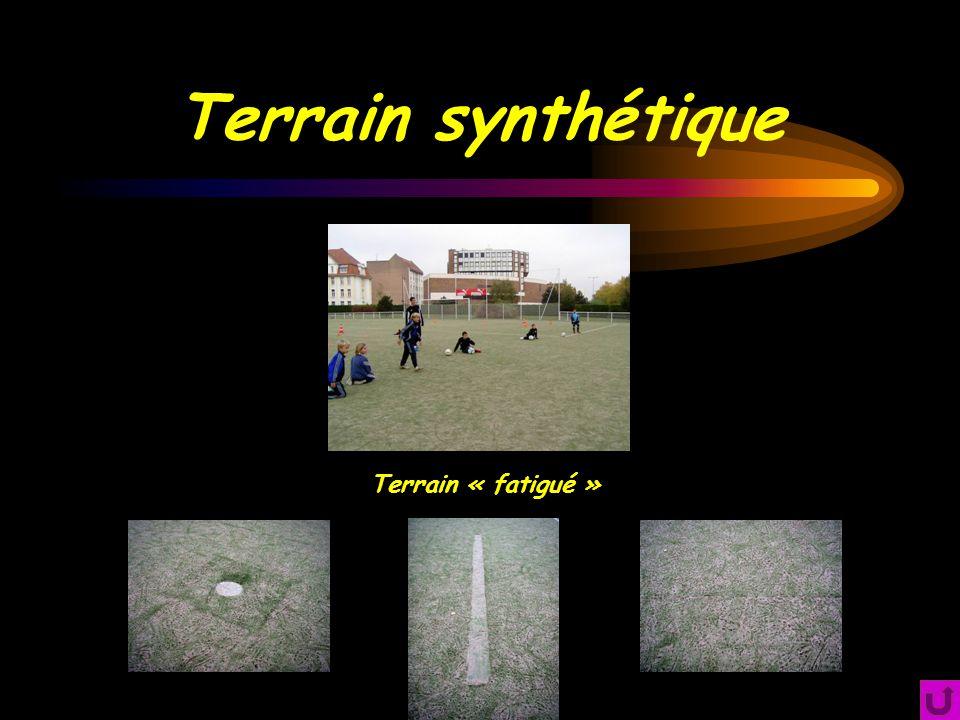 Terrain synthétique Terrain « fatigué »