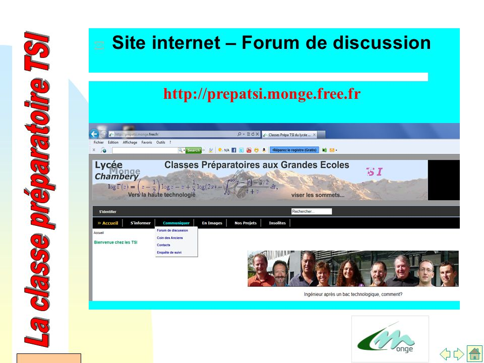 AFDET 17 Janvier 2002 * Site internet – Forum de discussion http://prepatsi.monge.free.fr