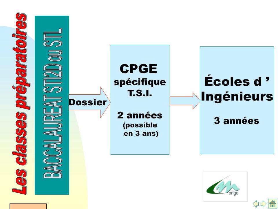 AFDET 17 Janvier 2002 Dossier CPGE spécifique T.S.I.