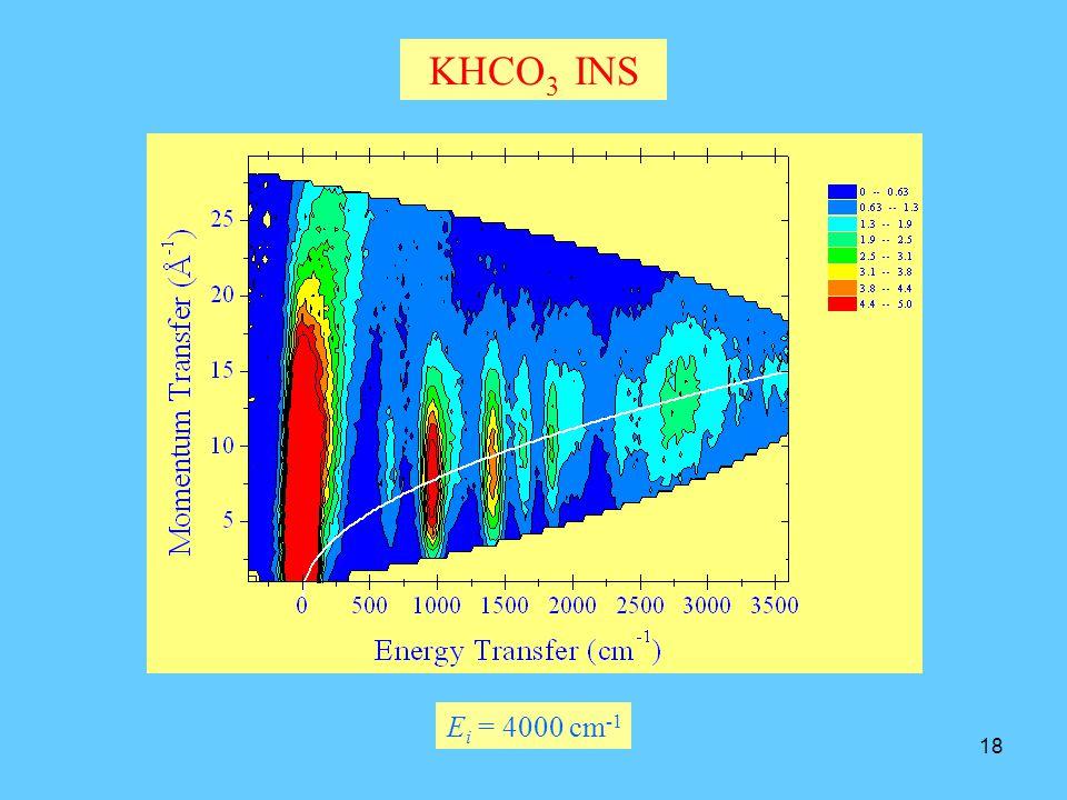 18 KHCO 3 INS E i = 4000 cm -1