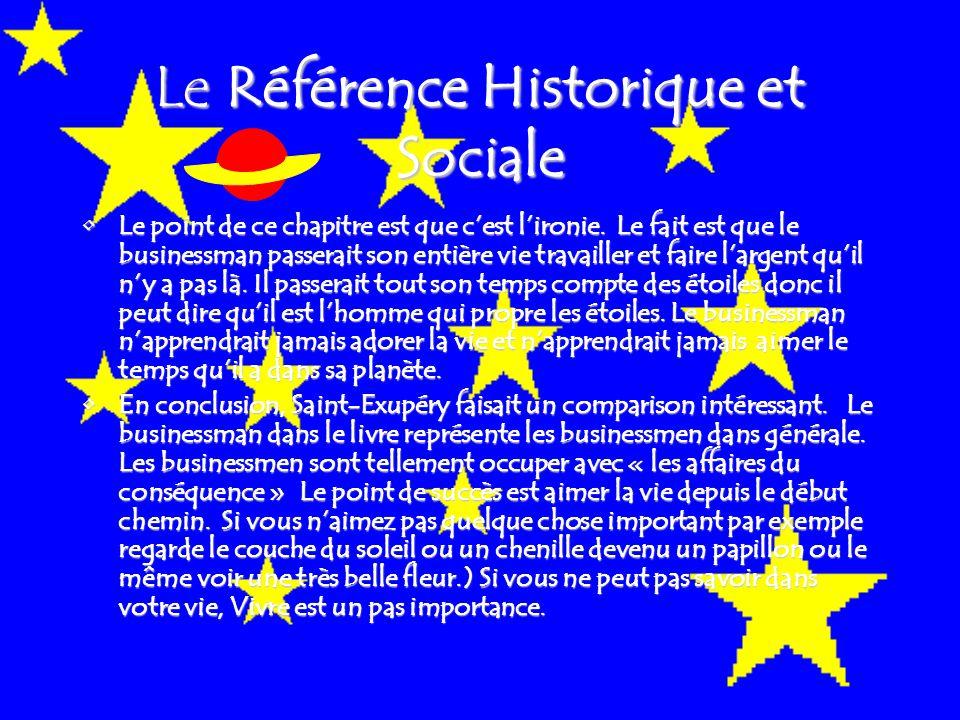 Le Référence Historique et Sociale Le point de ce chapitre est que c'est l'ironie.