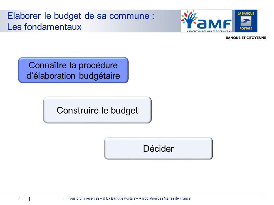 Tous droits réservés – © La Banque Postale – Association des Maires de France 1259 com 23 III.