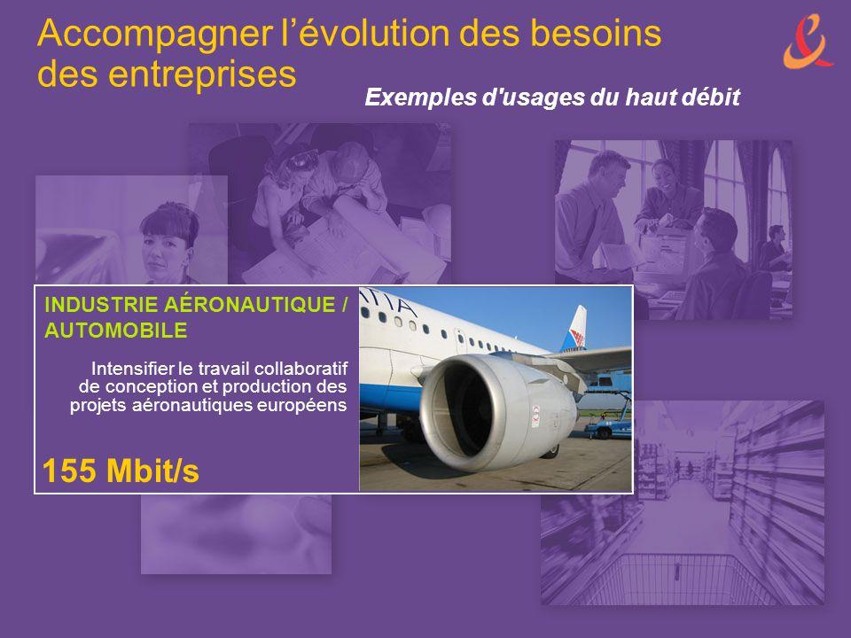 INDUSTRIE AÉRONAUTIQUE / AUTOMOBILE 155 Mbit/s Intensifier le travail collaboratif de conception et production des projets aéronautiques européens Exe