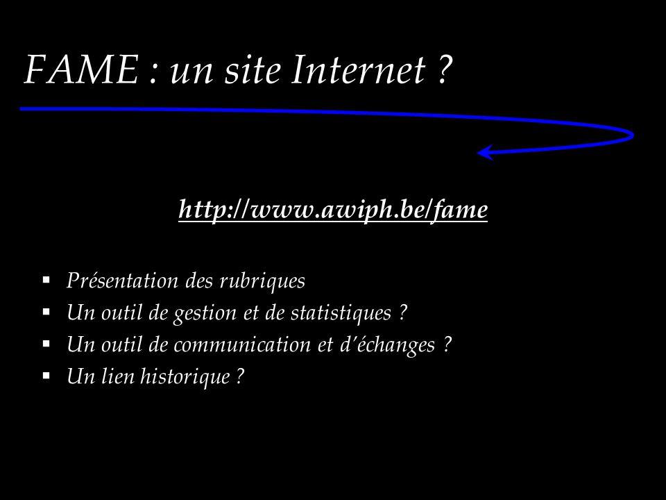 FAME : un site Internet .