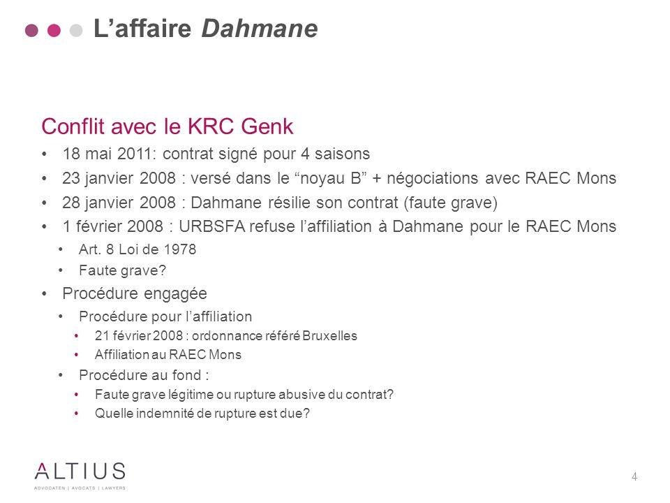 """4 Conflit avec le KRC Genk 18 mai 2011: contrat signé pour 4 saisons 23 janvier 2008 : versé dans le """"noyau B"""" + négociations avec RAEC Mons 28 janvie"""