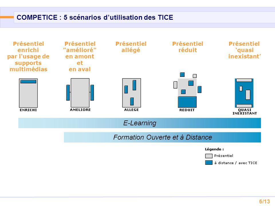 6/13 COMPETICE : 5 scénarios d'utilisation des TICE Présentiel