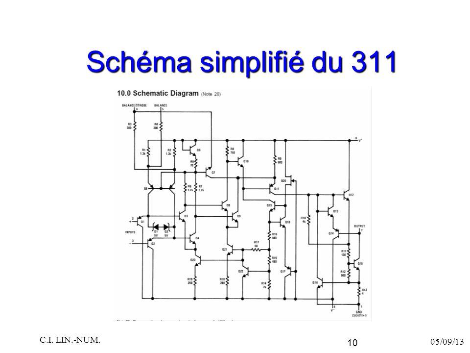 Schéma simplifié du 311 05/09/13 C.I. LIN.-NUM. 10