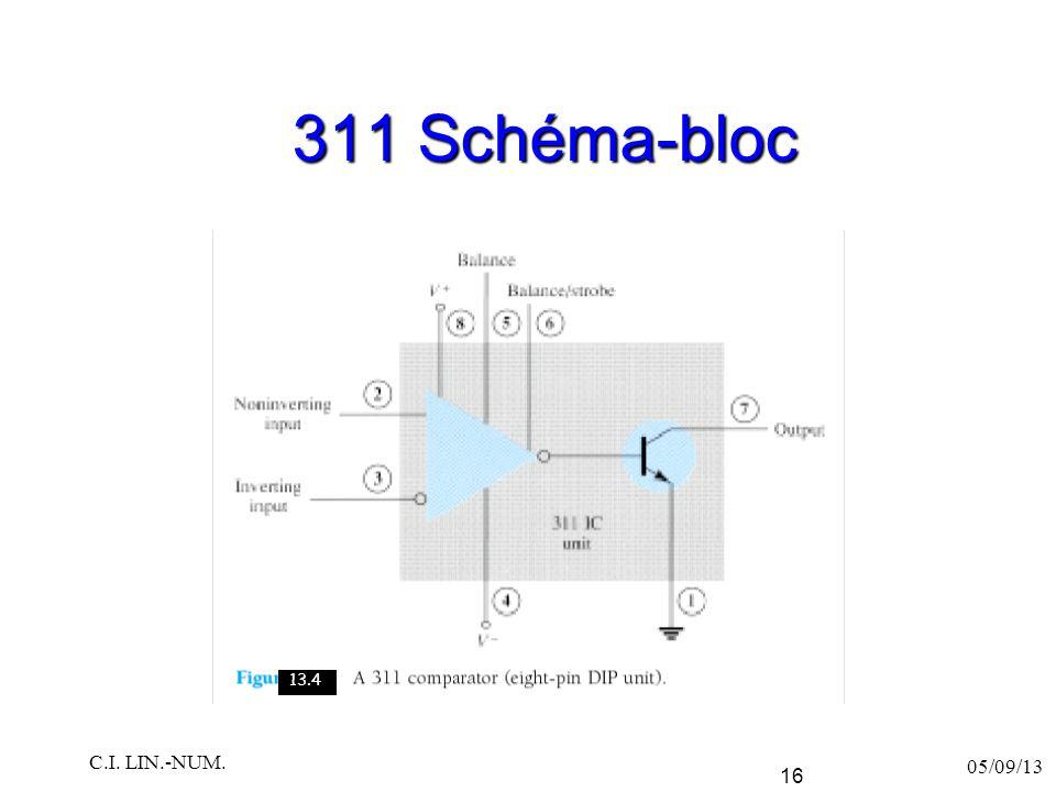 311 Schéma-bloc 05/09/13 C.I. LIN.-NUM. 16 13.4