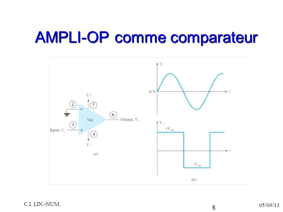 AMPLI-OP comme comparateur 05/09/13 C.I. LIN.-NUM. 6