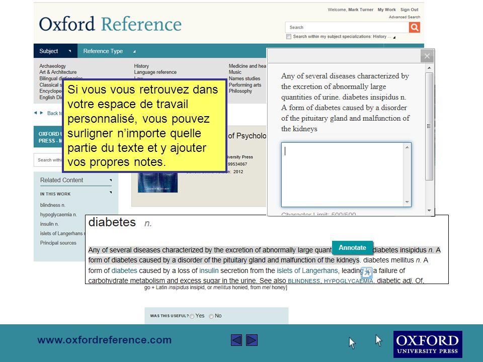 www.oxfordreference.com Les pages de contenu offrent toujours des liens soi à d'autres contenus s'associant au même livre soi à travers « Oxford Reference ».