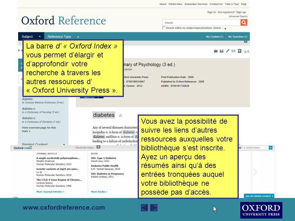 www.oxfordreference.com Si vous vous retrouvez dans votre espace de travail personnalisé, vous pouvez surligner n'importe quelle partie du texte et y ajouter vos propres notes.