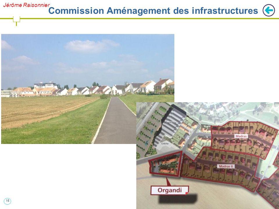 15 Jérôme Raisonnier Commission Aménagement des infrastructures