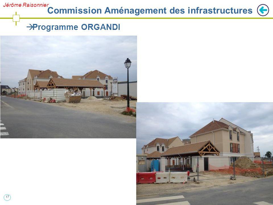 17  Programme ORGANDI Jérôme Raisonnier Commission Aménagement des infrastructures
