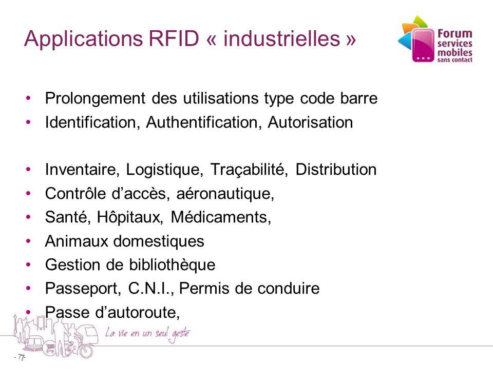 8 Vue normalisée de la RFID et du sans contact 8