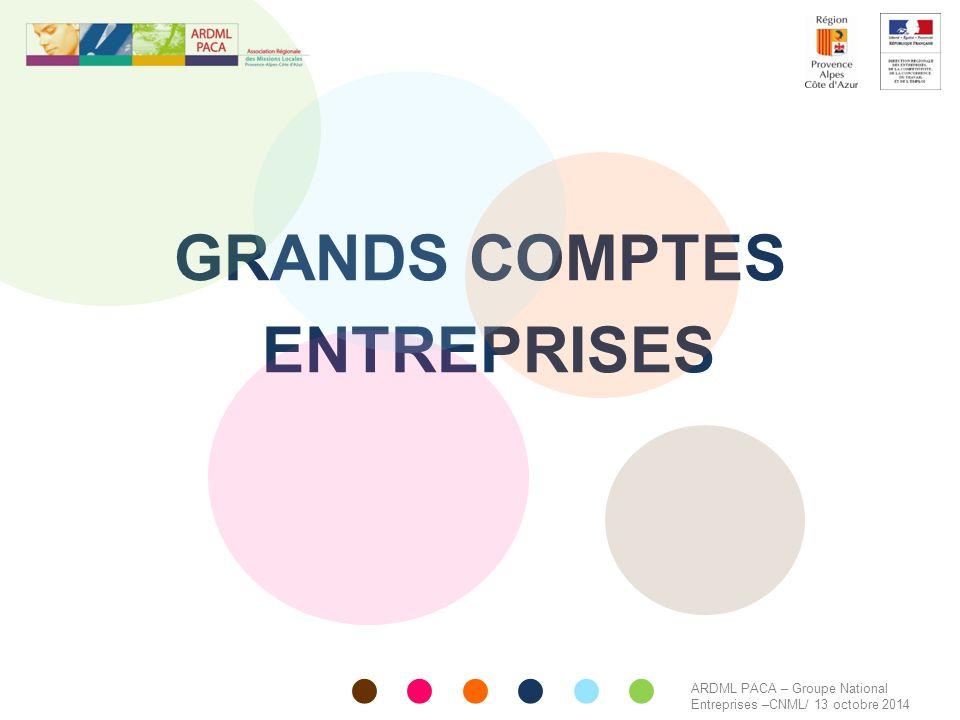 GRANDS COMPTES ENTREPRISES ARDML PACA – Groupe National Entreprises –CNML/ 13 octobre 2014