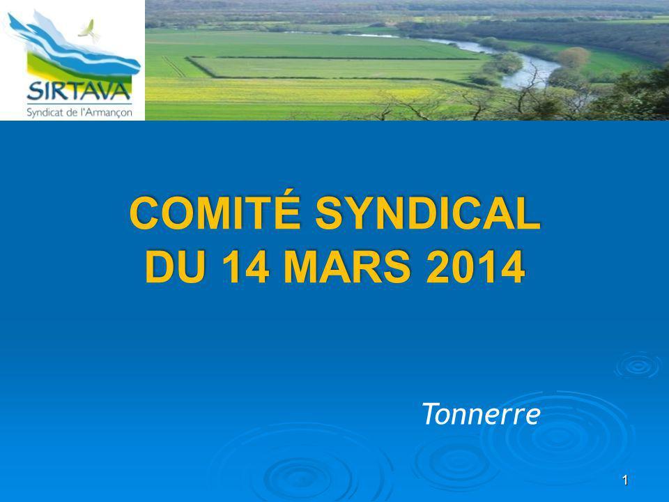 COMITÉ SYNDICAL DU 14 MARS 2014 Tonnerre 1