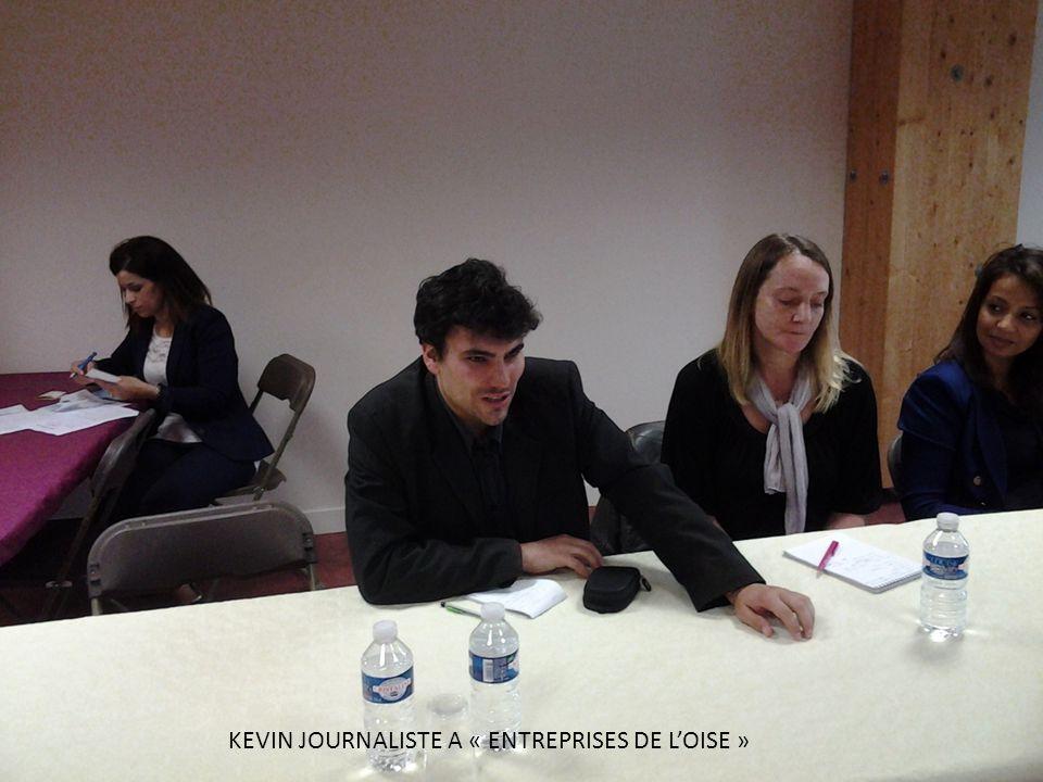 KEVIN JOURNALISTE A « ENTREPRISES DE L'OISE »