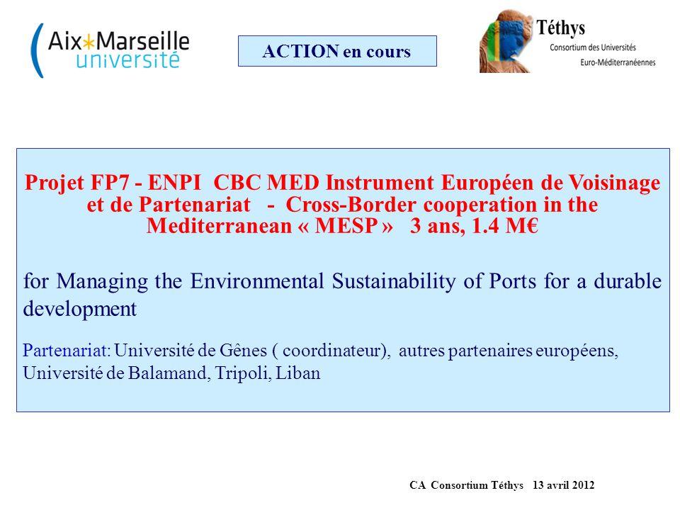 ACTION en cours Projet FP7-INCO Activities of International Cooperation BILAT M2ERA Integrating Morocco to the ERA 500 k€ 3.5 ans Objectifs: améliorer la participation du Maroc aux programmes européens ; formation de spécialistes marocains (PCN), bilan de l'activité de recherche ; mise en relation de laboratoires de recherche marocains et européens sur les thématiques prioritaires au Maroc, et pour l'innovation, activation de la diaspora en Europe,...
