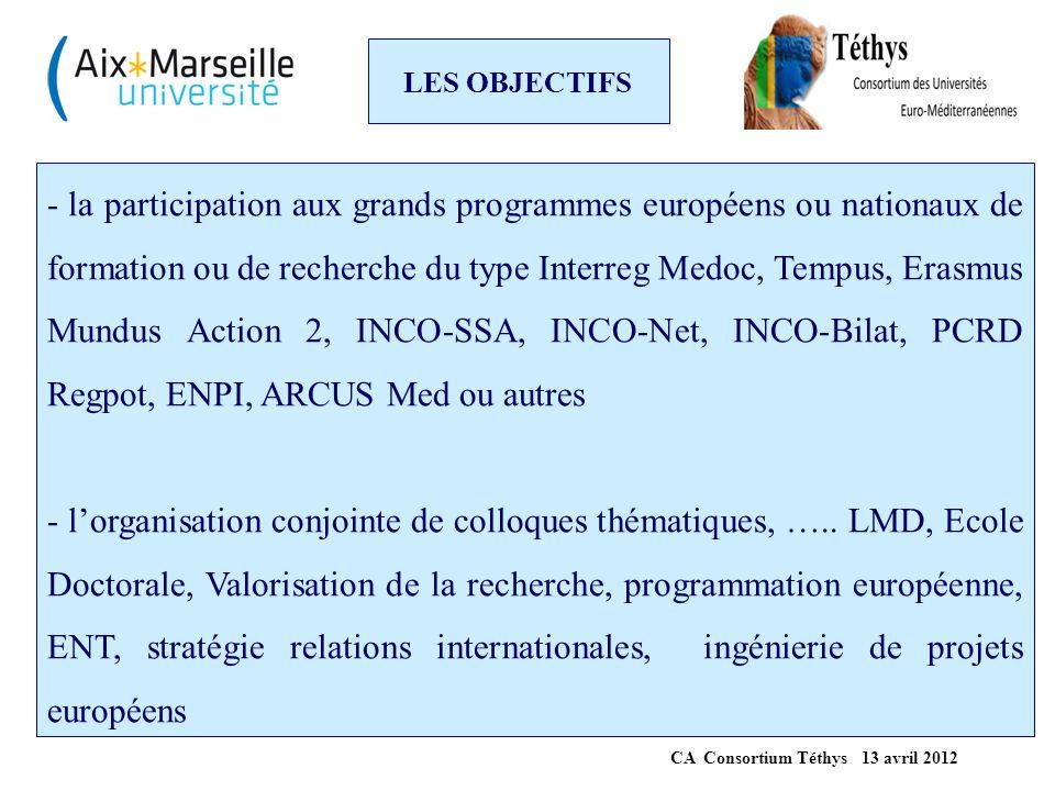 PROGRAMME terminé * Projet TEMPUS IV « TransMedEAST, Trans Mediterranean Endoscopic and Anatomic Surgical Training » 3 ans, 1M€ pour la mise en place d'une formation commune dans le domaine de l'Otologie et Neurotologie (co-diplômation).