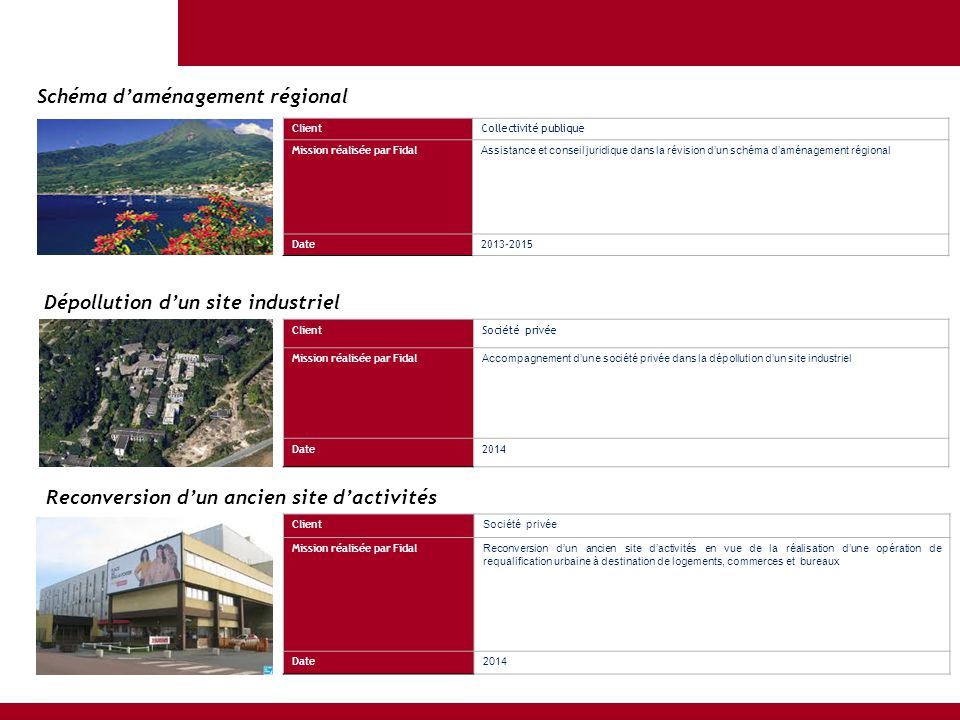 ClientCollectivité publique Mission réalisée par Fidal Assistance et conseil juridique dans la révision d'un schéma d'aménagement régional Date2013-20