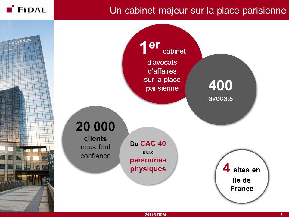 2014© FIDAL Un cabinet majeur sur la place parisienne 1 er cabinet d'avocats d'affaires sur la place parisienne 1 er cabinet d'avocats d'affaires sur