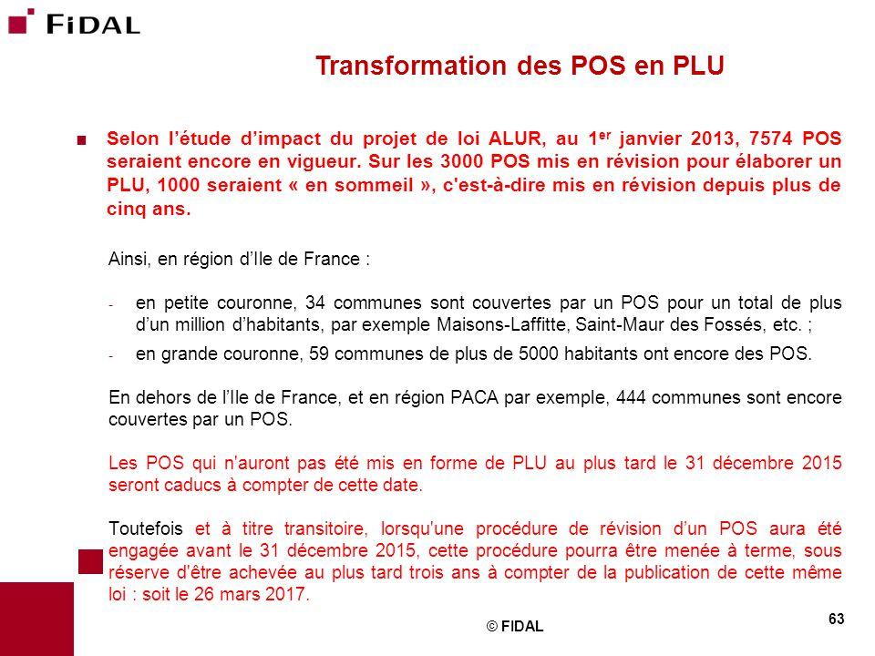  Selon l'étude d'impact du projet de loi ALUR, au 1 er janvier 2013, 7574 POS seraient encore en vigueur. Sur les 3000 POS mis en révision pour élabo
