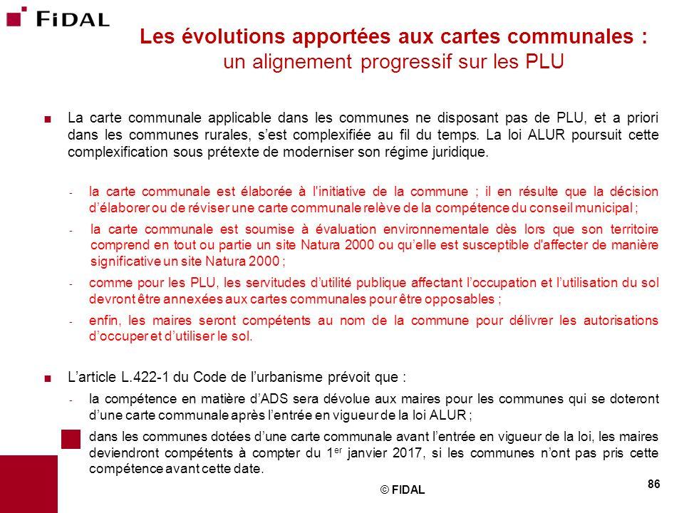  La carte communale applicable dans les communes ne disposant pas de PLU, et a priori dans les communes rurales, s'est complexifiée au fil du temps.