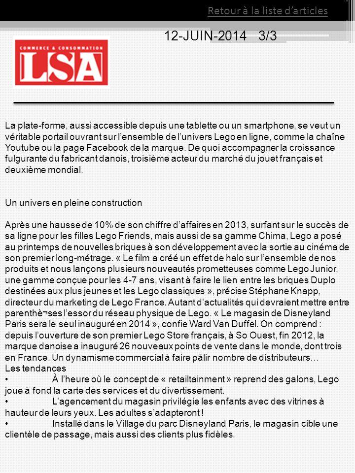 Retour à la liste d'articles 12-JUIN-2014 3/3 La plate-forme, aussi accessible depuis une tablette ou un smartphone, se veut un véritable portail ouvr