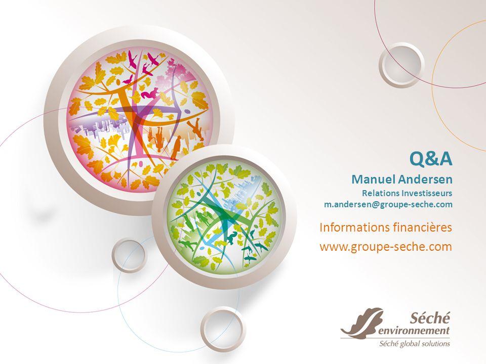 Q&A Manuel Andersen Relations Investisseurs m.andersen@groupe-seche.com Informations financières www.groupe-seche.com
