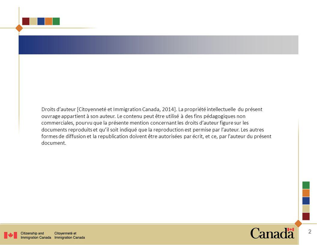 Droits d'auteur [Citoyenneté et Immigration Canada, 2014].