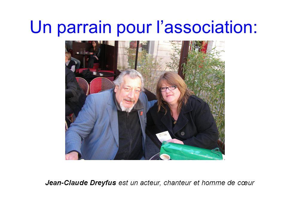 Un parrain pour l'association: Jean-Claude Dreyfus est un acteur, chanteur et homme de cœur