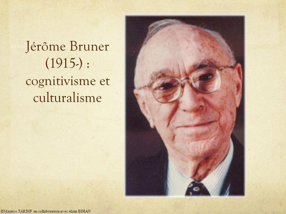 Jérôme Bruner (1915-) : cognitivisme et culturalisme ©Maurice TARDIF en collaboration avec Alain BIHAN