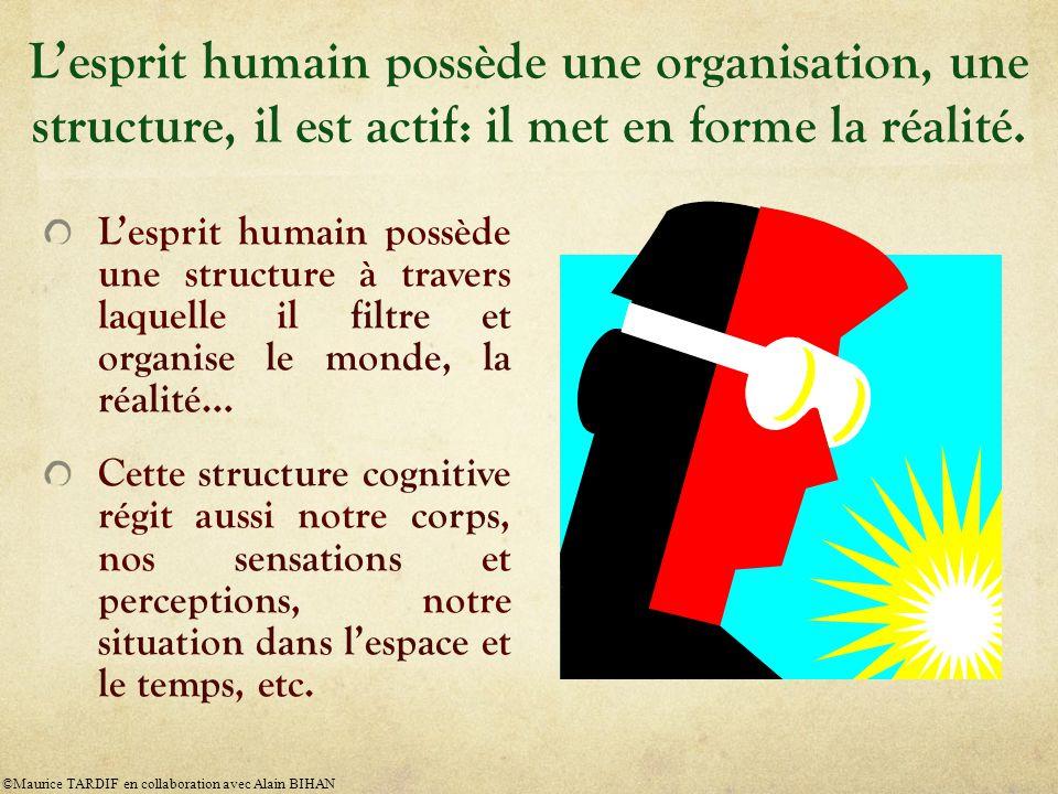 L'esprit humain possède une organisation, une structure, il est actif: il met en forme la réalité.