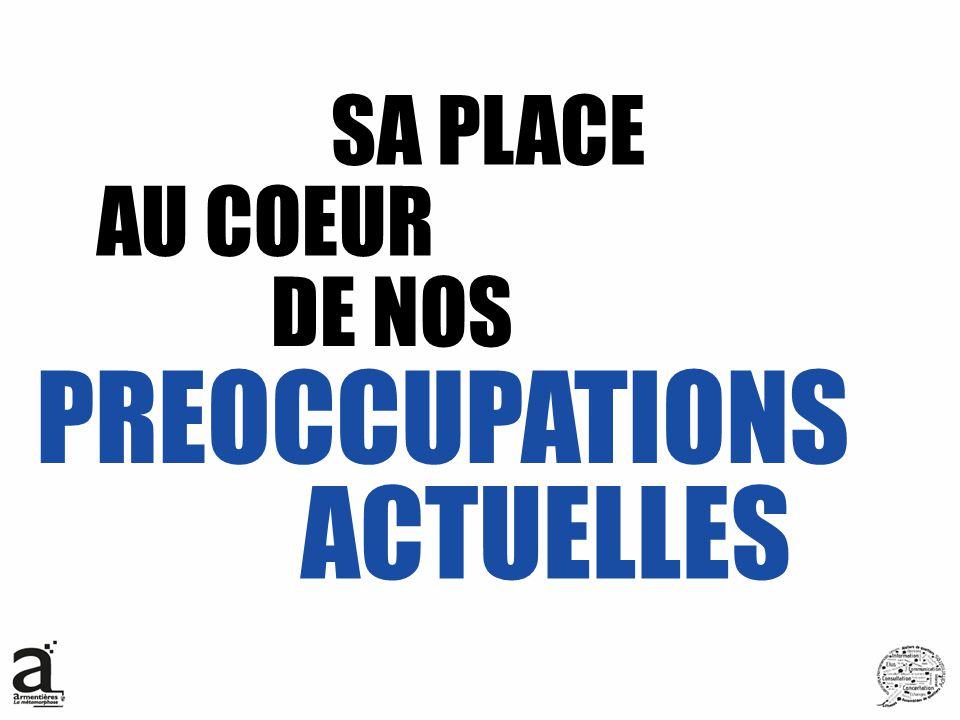 SA PLACE AU COEUR DE NOS PREOCCUPATIONS ACTUELLES