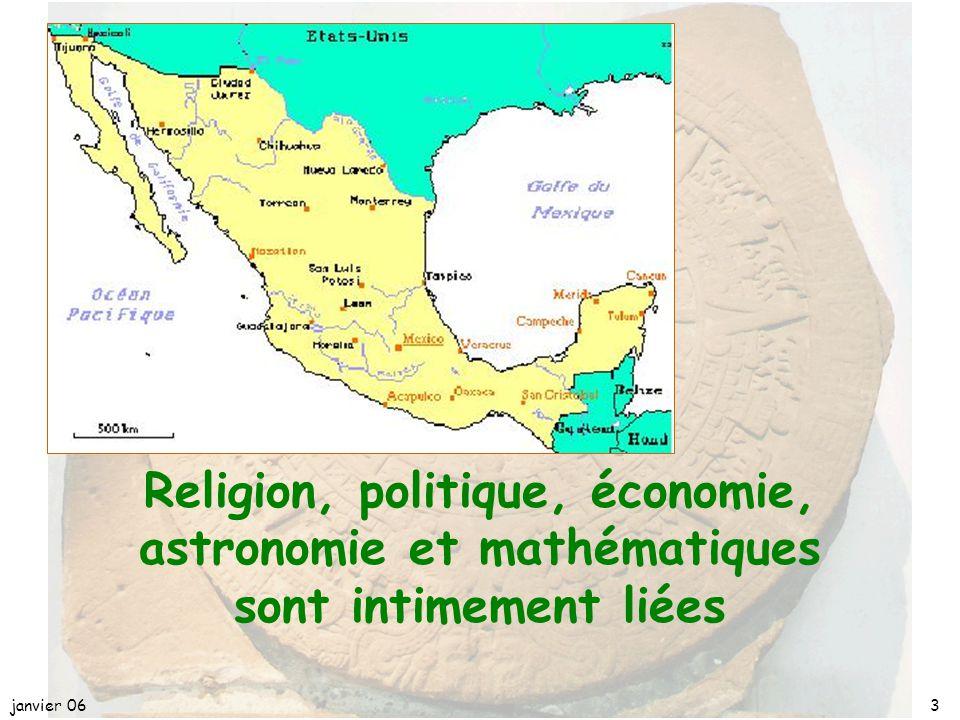 janvier 063 Religion, politique, économie, astronomie et mathématiques sont intimement liées
